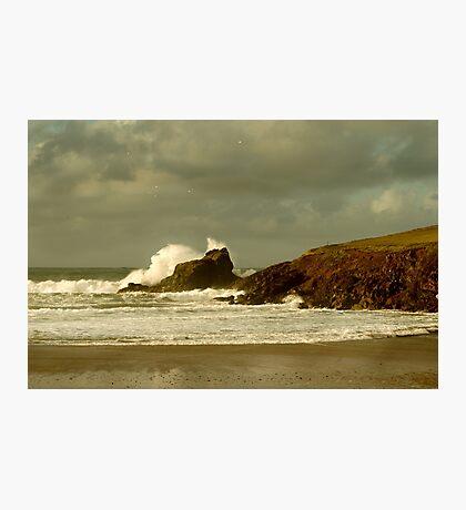 Surf Splash - Trevone Bay - Cornwall Photographic Print
