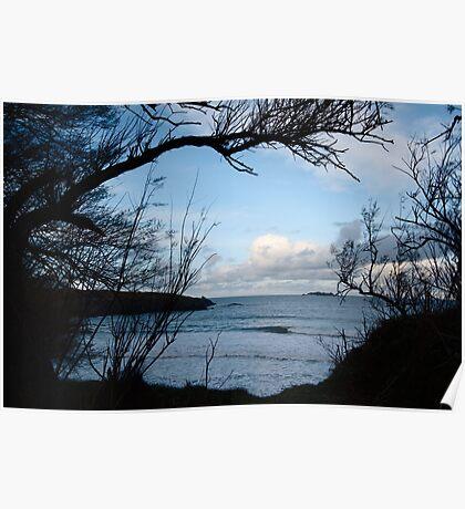 Natural Window - Harlyn Bay - Cornwall Poster