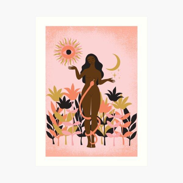 sun and moon goddess Art Print