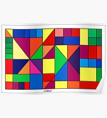 SQUARES AND TRIANGLES ARTWORK Poster