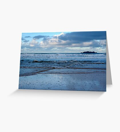 Evening at Harlyn Bay - Cornwall Greeting Card