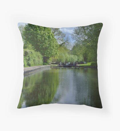 Greenham Lock - Newbury Throw Pillow