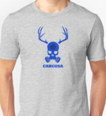 True Detective - Carcosa Gas Mask - Blue T-Shirt