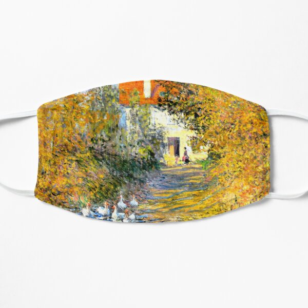 Monet - The Geese, fine art popular painting Mask