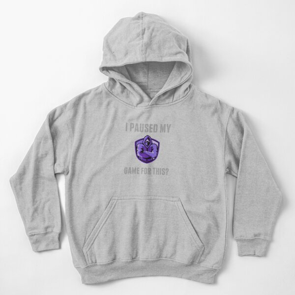 I paused my game to be here, gaming, gamer, funny, game, nerd, geek, video games, video, console, paused, call of duty, fortnite, fun, I paused my game for this, Kids Pullover Hoodie