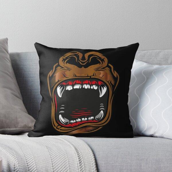 Gorilla Head Pillows Cushions Redbubble