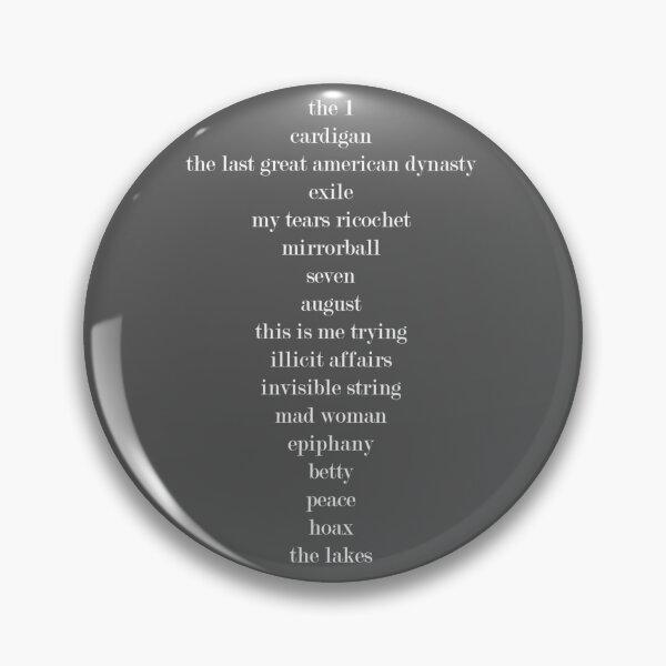 Liste des pistes folkloriques de Taylor Swift Badge