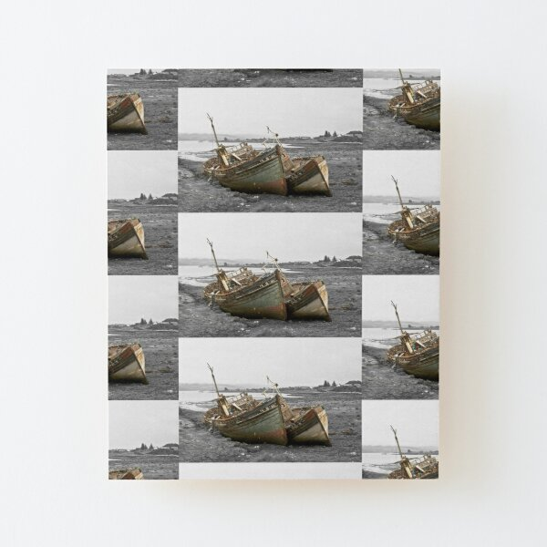 Old Boats Wood Mounted Print