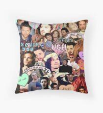spn collage Throw Pillow