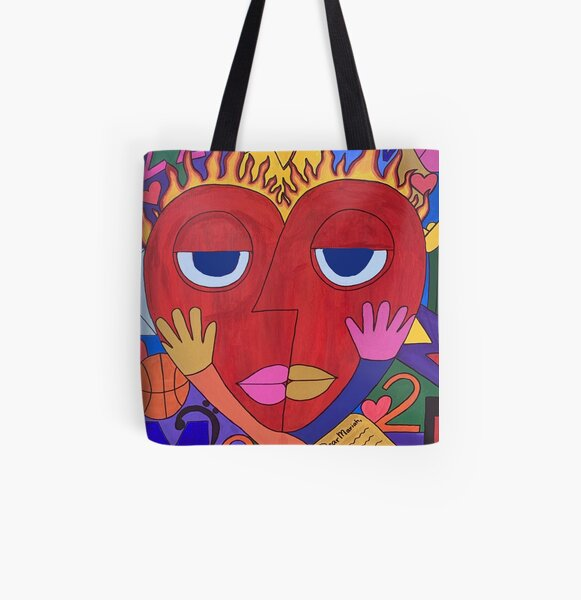 """""""Fire & Desire""""  All Over Print Tote Bag"""