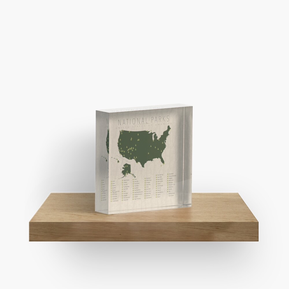 US National Parks Acrylic Block