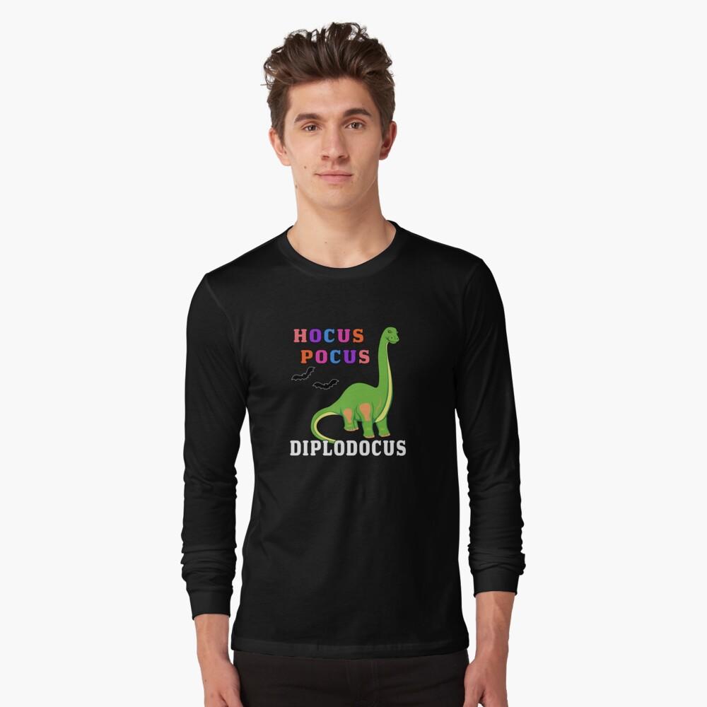 Hocus Pocus Diplodocus Prehistoric Dinosaur Spooky Bat. Long Sleeve T-Shirt