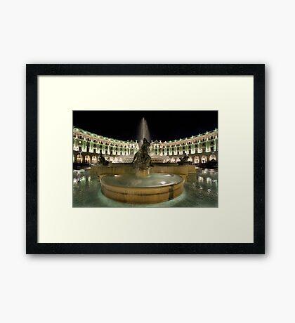 Piazza Della Repubblica by Night Framed Print