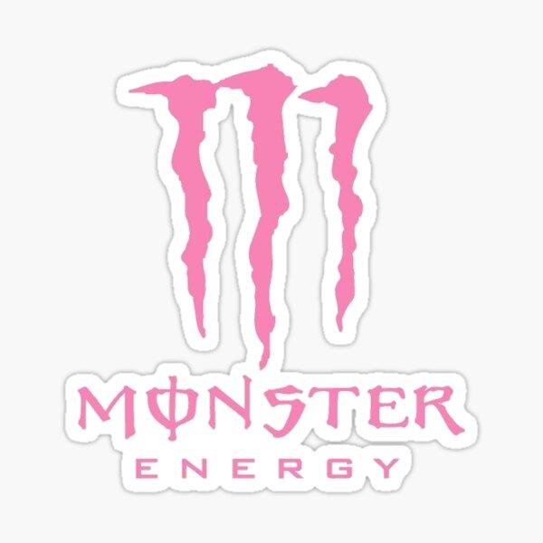 Pink monster logo Sticker