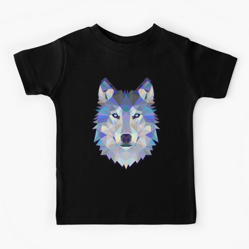 Cool Colorful Wolf Kids T-Shirt