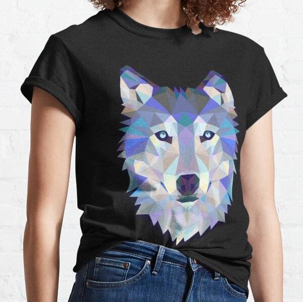 Cool Colorful Wolf Classic T-Shirt