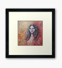 I color the world with my feelings... Framed Print