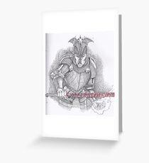 Eldritch Warrior Greeting Card