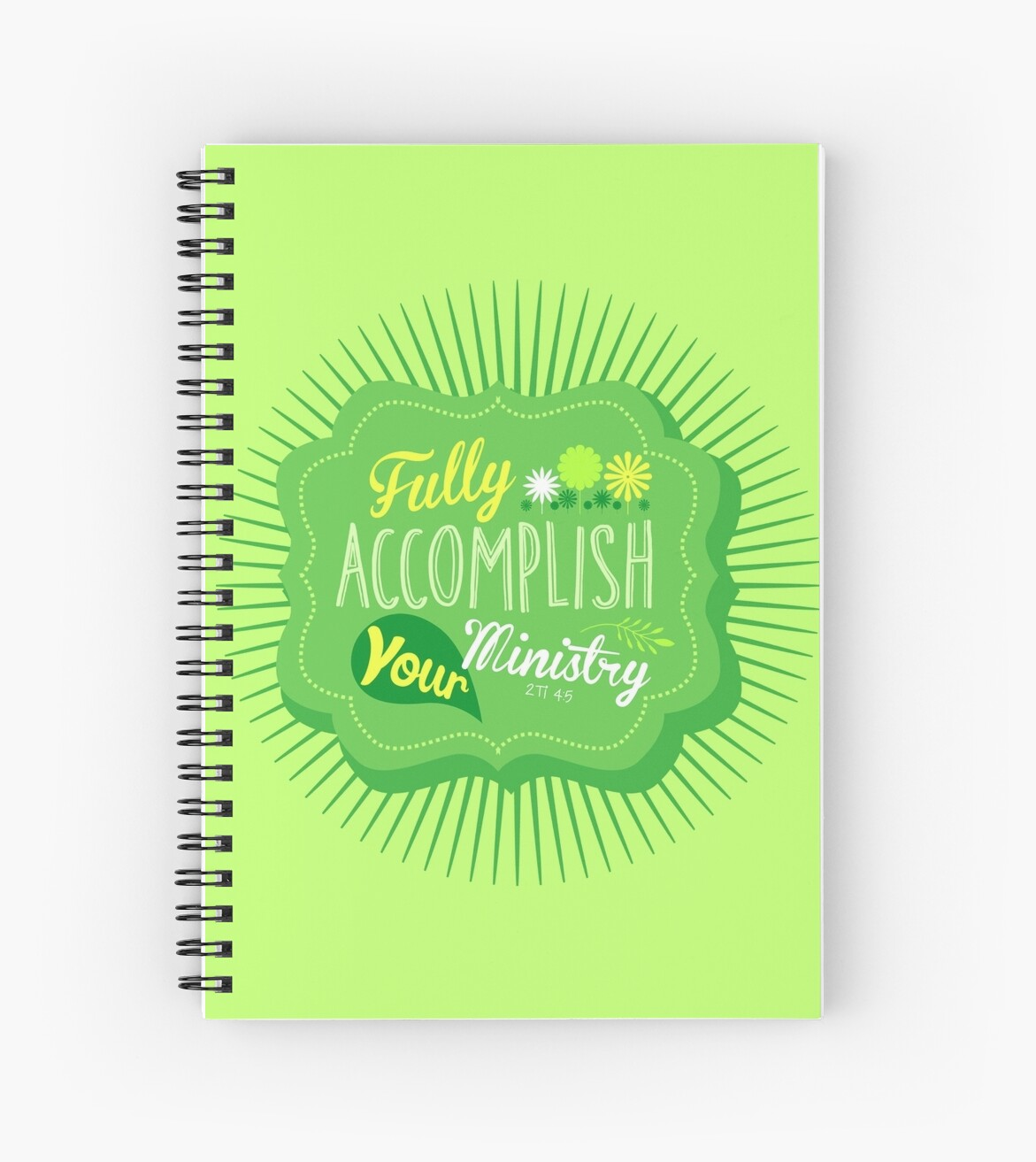 Fully Accomplish Your Ministry (Green) by JW ARTS & CRAFTS