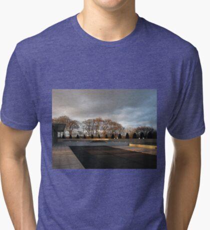 Temple Forecourt At Sundown Vintage T-Shirt
