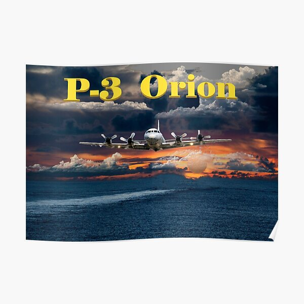 P-3 Orion low level target prosecution Poster