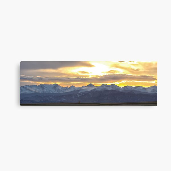 Colorado Front Range Panorama Gold Canvas Print