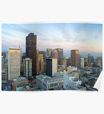 downtown panorama san francisco Poster