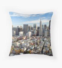 san francisco downtown district Throw Pillow