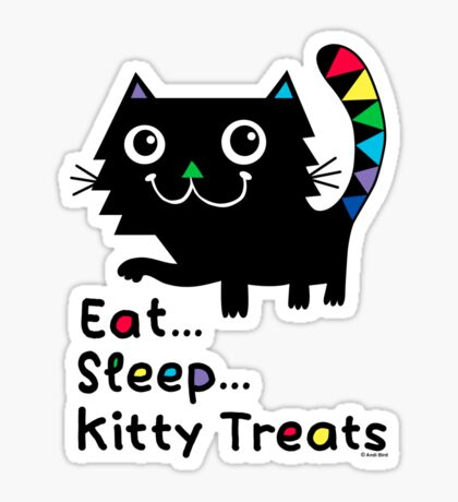 Eat, Sleep, Kitty Treats  Sticker