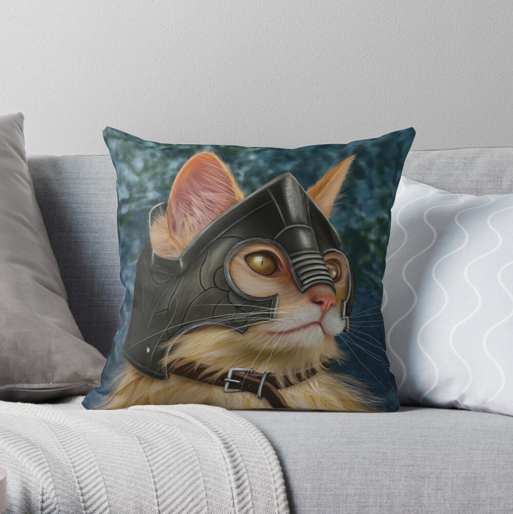 Warrior Cat Throw Pillow