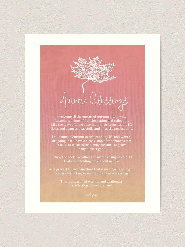 Alternate view of Affirmation - Autumn Blessings Art Print