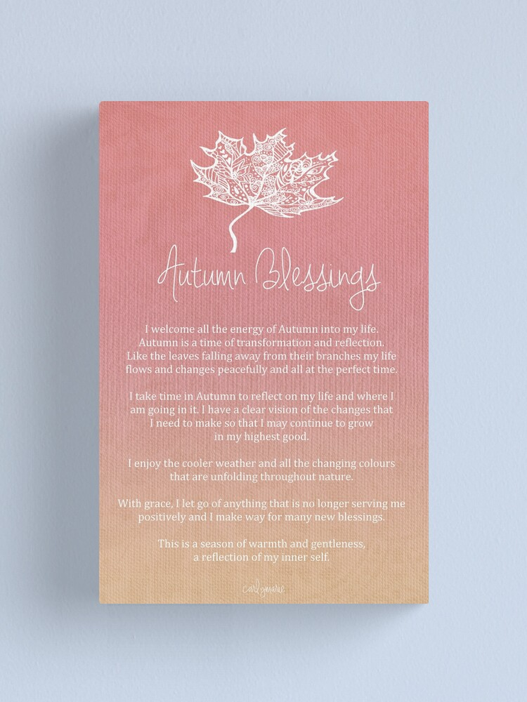 Alternate view of Affirmation - Autumn Blessings Canvas Print
