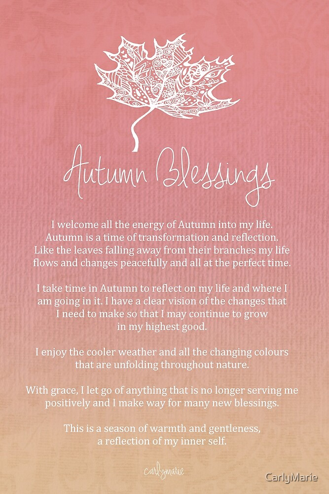 Affirmation - Autumn Blessings by CarlyMarie