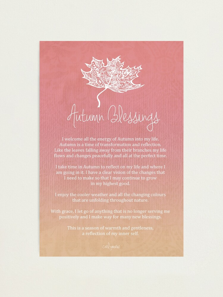 Alternate view of Affirmation - Autumn Blessings Photographic Print