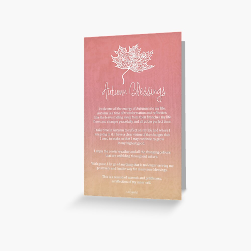 Affirmation - Autumn Blessings Greeting Card