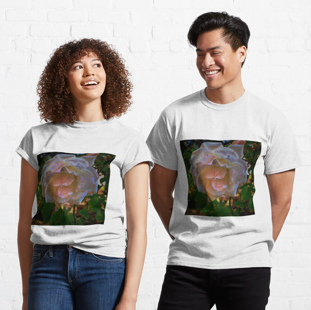White roses on a Blue  sky By Yannis Lobaina  Classic T-Shirt
