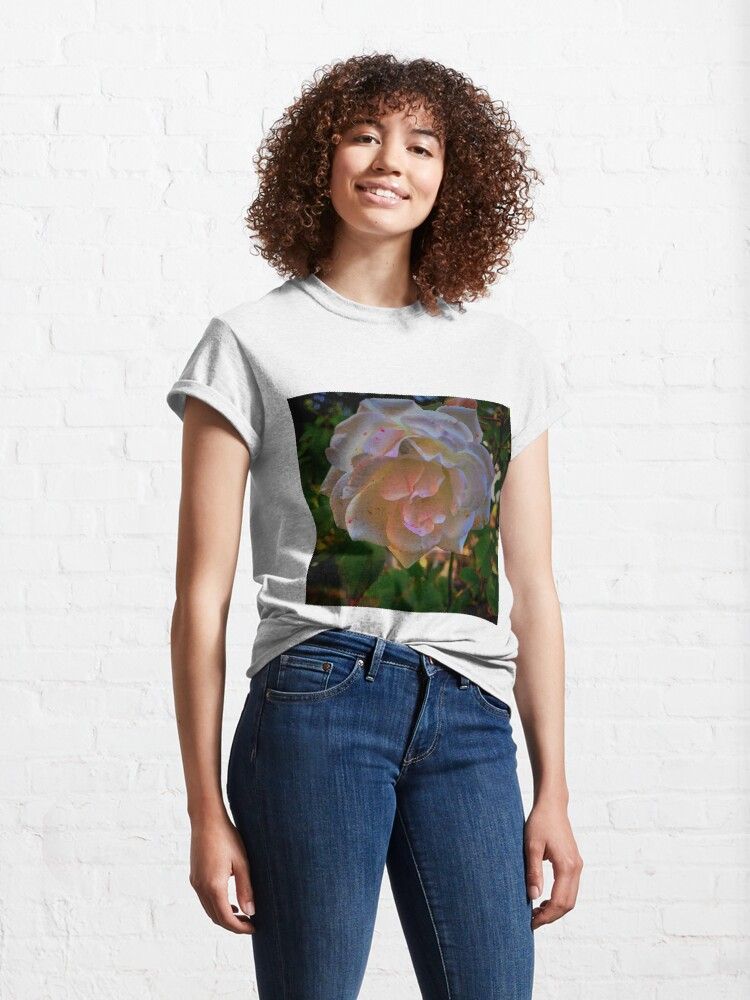 Alternate view of White roses on a Blue  sky By Yannis Lobaina  Classic T-Shirt