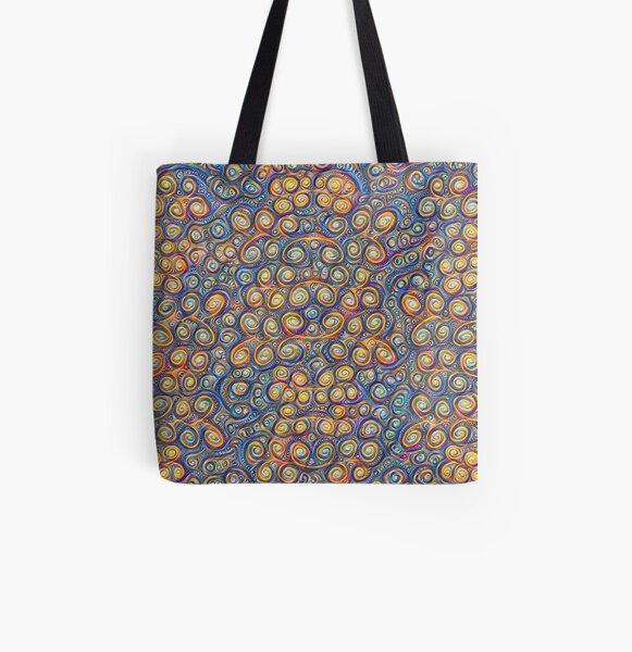 Grapes #DeepDream #Art All Over Print Tote Bag