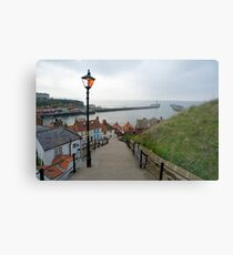the 199 steps and harbour Metal Print
