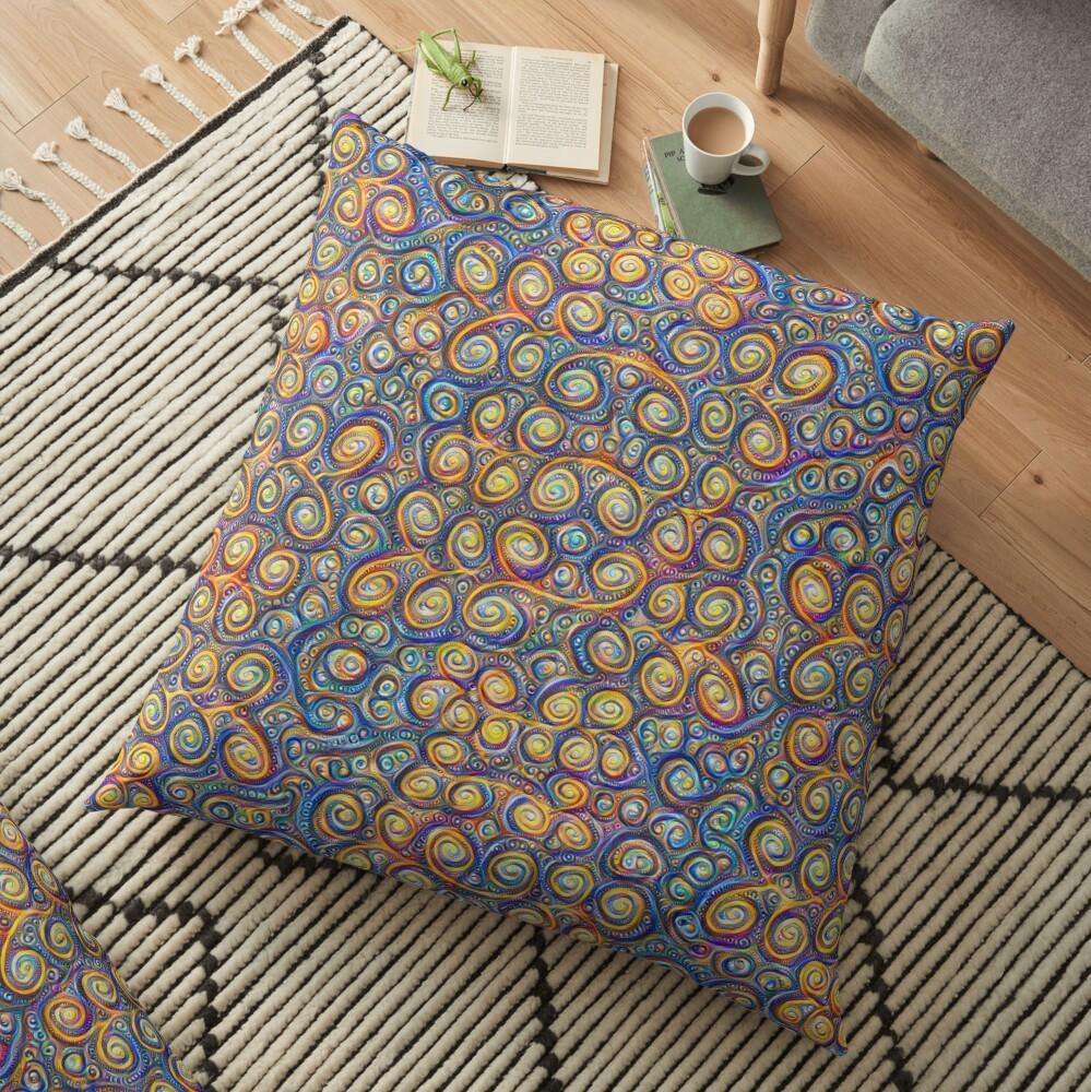 Grapes #DeepDream #Art Floor Pillow