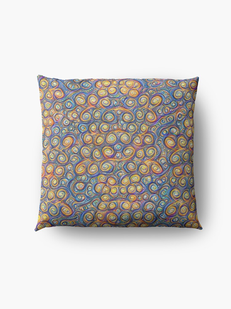 Alternate view of Grapes #DeepDream #Art Floor Pillow