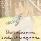 She carries her heart in her arms... by Donna Keevers Driver