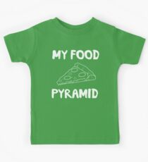 My food pyramid is pizza Kids Clothes