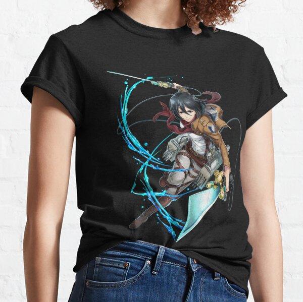 Mikasa Ackerman lucha Attack on titans Camiseta clásica