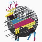 CMYK Deer by qetza