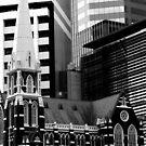 Albert St Uniting Church (B&W) by Jordan Miscamble