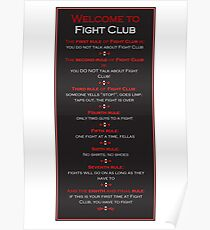 Fight Club - Welcome to Fight Club Poster
