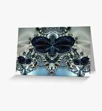 Blue Butterfly Lace II Greeting Card