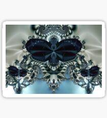 Blue Butterfly Lace II Sticker