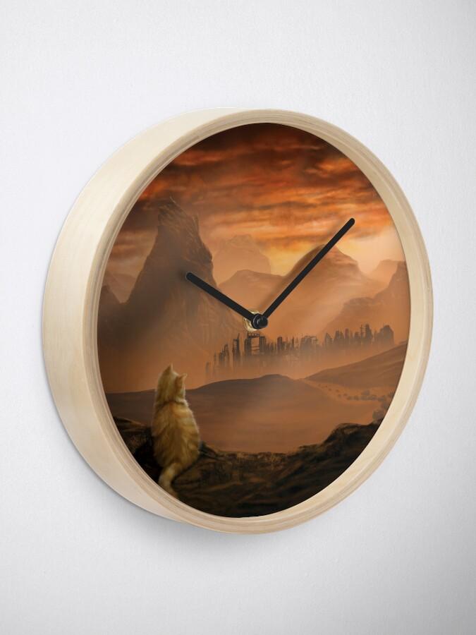 Alternate view of Kitten in the Wasteland Clock